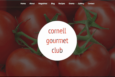 Cornell Gourmet Club Website